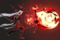 Vista previa de Fulgor / Ultrafulgor / Gigafulgor/Fulgor / Megafulgor / Gigafulgor en la sección de Técnicas de Super Smash Bros. Ultimate