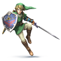 Art oficial de Link en Super Smash Bros. for Nintendo 3DS / Wii U.