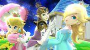 Peach, Estela y Zelda en la Galaxia Mario SSB4 (Wii U).jpg