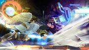 Pit Sombrío usando el Brazal biónico contra Pit SSB4 (Wii U).jpg