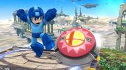 Mega Man junto a un Bumper en el Campo de Batalla SSB4 (Wii U).jpg