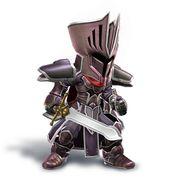 Artwork del Espadachín Mii con el yelmo y la armadura del Caballero Negro.jpg