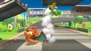 Charizard y Yoshi en Circuito Mario (SSBB) SSB4 (Wii U).jpg