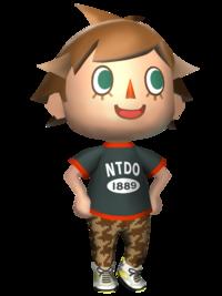 Art oficial del Aldeano en Animal Crossing: New Leaf
