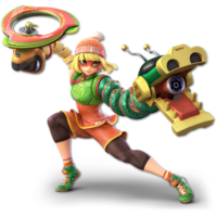 Art oficial de Min Min en Super Smash Bros. Ultimate