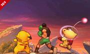 Little Mac junto a Pikachu y Olimar en SSB4 (3DS).png