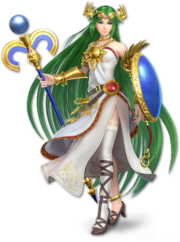 Art original de Palutena en Super Smash Bros. Ultimate.