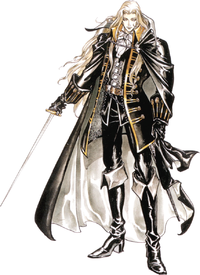 Art oficial de Alucard en Castlevania: Symphony of the Night.