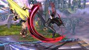 Lanzamiento Hacia Atrás Bayonetta SSB Wii U.jpg