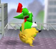 Lanzamiento delantero de Pikachu (2) SSB.png