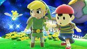 Ness y Toon Link en Galaxia Mario SSB4 (Wii U).jpg