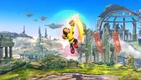 Karateka Mii usando Puños meteoro en Super Smash Bros. for Wii U