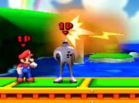 Mario junto a un Starman.