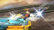 Ataque de recuperación desde el borde de Captain Falcon SSB4 (Wii U).png