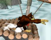 Ataque de recuperación de cara al suelo de Donkey Kong (2) SSBM.png
