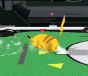 Ataque de recuperación de cara al suelo de Pikachu (2) SSBM.png