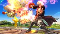 Daraen usando Arcfire en Super Smash Bros. for Wii U