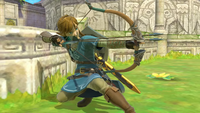 Link usando el Arco y flechas en Super Smash Bros. Ultimate.