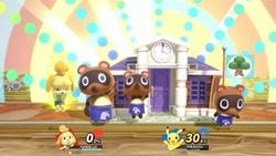 Canela usando su Smash Final, La alcaldía de mis sueños, en Super Smash Bros. Ultimate