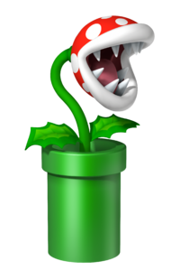 Art oficial de Planta Piraña en Mario Party 9