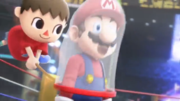 Aldeano atrapando a Mario con su red Trailer Wii U SSB4.png