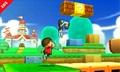 El Aldeano y la Entrenadora de Wii Fit en Super Mario 3D Land SSB4 (3DS).jpg