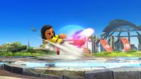 Karateka Mii usando Patadas destructoras en Super Smash Bros. for Wii U