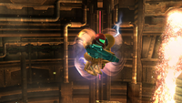 Samus usando el Ataque especial en Super Smash Bros. for Wii U