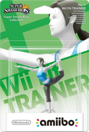 Embalaje del amiibo de la Entrenadora de Wii Fit.png