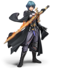 Art oficial de Byleth hombre en Super Smash Bros. Ultimate