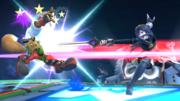 Lucina usando Rompeescudos contra Fox SSB4 (Wii U).png