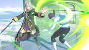 Daraen mujer y la Entrenadora de Wii Fit en el Templo SSBU.jpg