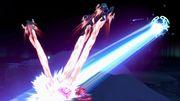 Lunala atacando a Fox, Samus y Palutena SSBU.jpg