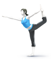 Art oficial de la Entrenadora de Wii Fit en Super Smash Bros. for Nintendo 3DS / Wii U