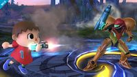 El Aldeano usando el movimiento en Super Smash Bros. for Wii U
