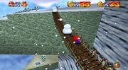 Puente en Cool, Cool Mountain en Super Mario 64.jpg