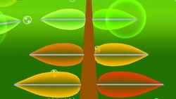 Los cuatro colores de las hojas de Hanenbow.