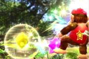Destello atacando a Diddy Kong con Trozos de estrella SSB4 (Wii U).png