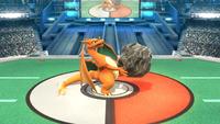Charizard usando el Golpe roca en Super Smash Bros. para Wii U