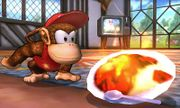Diddy Kong junto a un Curry Superpicante SSB4 (3DS).jpg