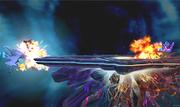 Mega-Charizard X usando Llamarada en Destino Final SSB4 (3DS).png