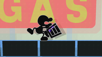 Mr. Game & Watch con el Cubo lleno en Super Smash Bros. for Wii U