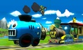 Link y Pikachu en el escenario Tren de los Dioses - (SSB. for 3DS).jpg