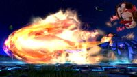 Charizard usando Envite ígneo en Super Smash Bros. for Wii U