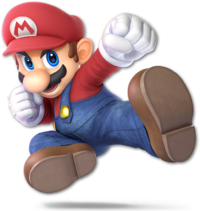 Art oficial de Mario en Super Smash Bros. Ultimate.