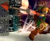 Young Link usando la flecha de fuego en Super Smash Bros. Melee.