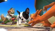 Fox y Charizard junto al Nintendog SSB4 (Wii U).jpg
