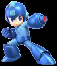 Art oficial de Mega Man en Super Smash Bros. Ultimate