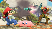 Samus usando supermisil en Super Smash Bros. for Wii U