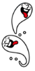 Artwork del Fantasma burlón en Rhythm Heaven Megamix.png